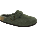 Boston Velourleder Green Lammfell